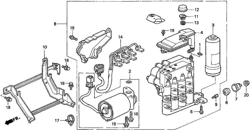 1997 Acura CL 2 Door PRE3.0 KA 4AT ABS Modulator