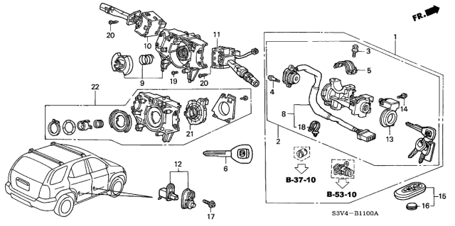 2002 Acura MDX Combination Switch Diagram