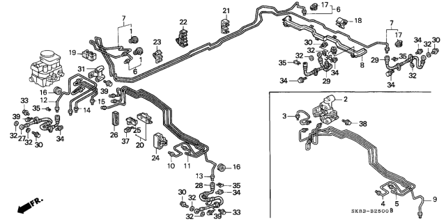 1993 Acura Integra Brake Lines Diagram