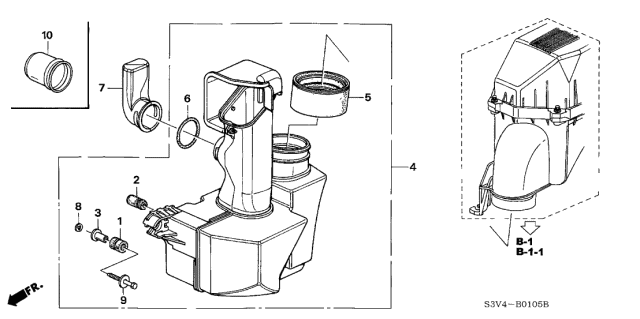 2002 Acura MDX Resonator Chamber Diagram