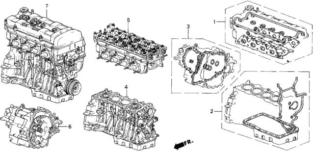06110-P72-020 Genuine Acura Gasket Kit, Cylinder Head | Acura Integra Engine Diagram |  | Acura Parts