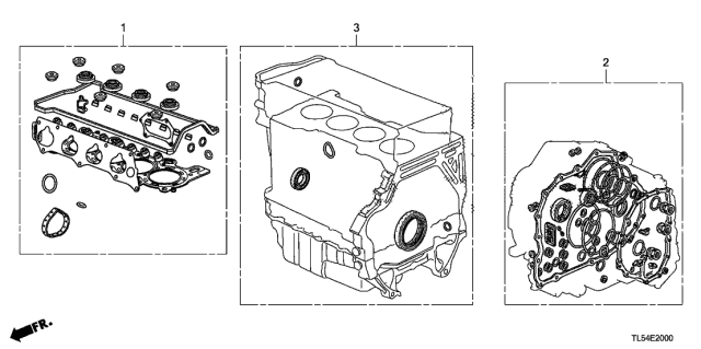 2014 Acura TSX Gasket Kit Diagram