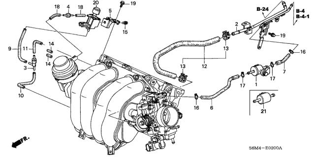 36365-PNA-000 Genuine Acura Tube, Vacuum Tank | Acura Vacuum Diagram |  | Acura Parts