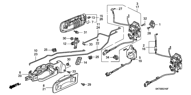 1992 Acura Integra Front Door Locks Diagram