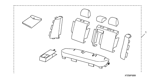 2020 Acura TLX Rear Seat Cover (2ND Row) Diagram