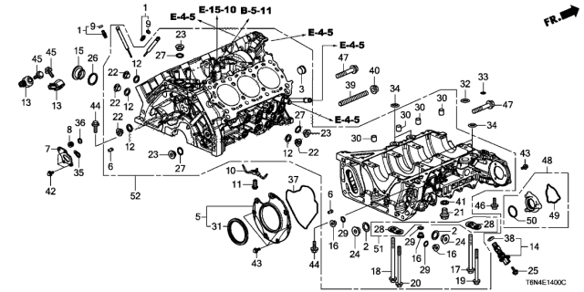 2019 Acura NSX Cylinder Block Diagram