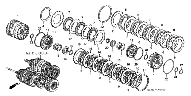 2002 Acura CL Clutch (1ST-2ND) Diagram