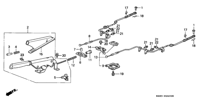 1993 Acura Integra Parking Brake Diagram
