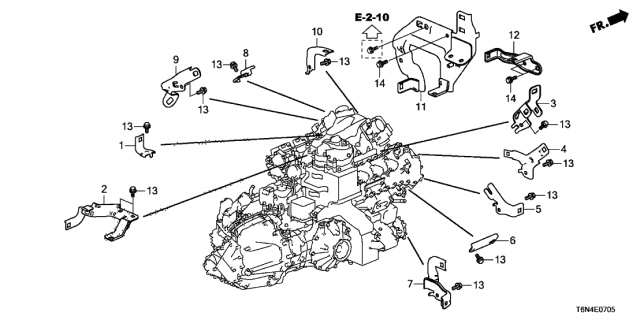 2019 Acura NSX Engine Wire Harness Stay Diagram