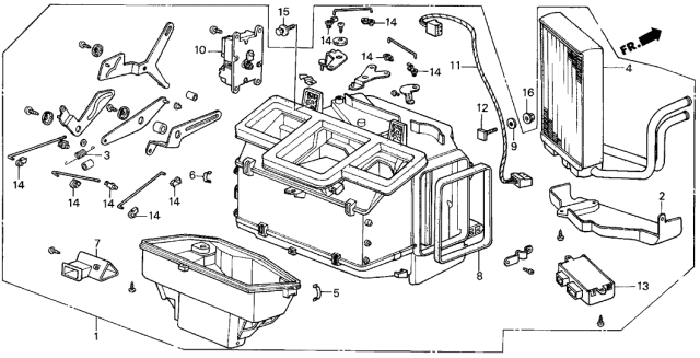 1986 Acura Integra Heater Unit Diagram