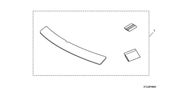 2011 Acura TSX Rear Bumper Applique Diagram