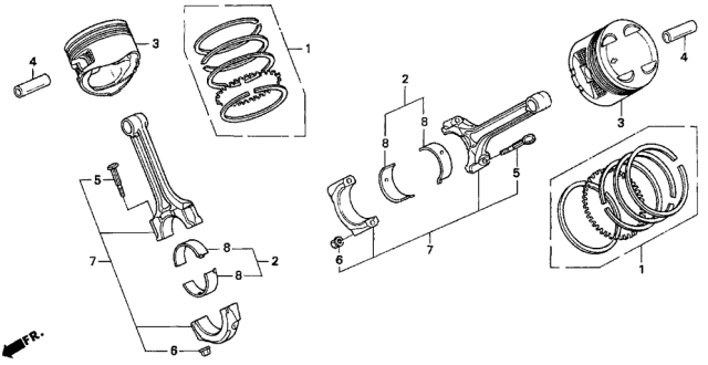 1991 Acura Legend Piston - Connecting Rod Diagram