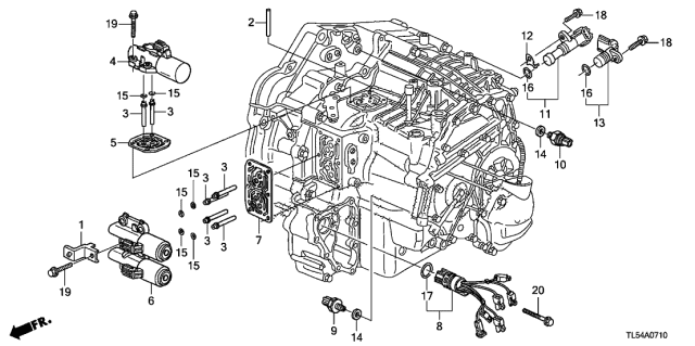 2014 Acura TSX AT Solenoid Diagram