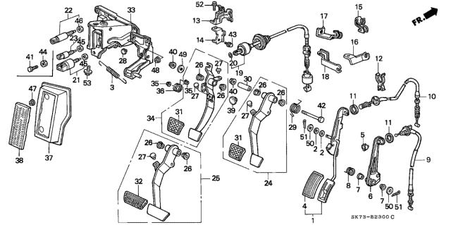 1992 Acura Integra Pedal Diagram