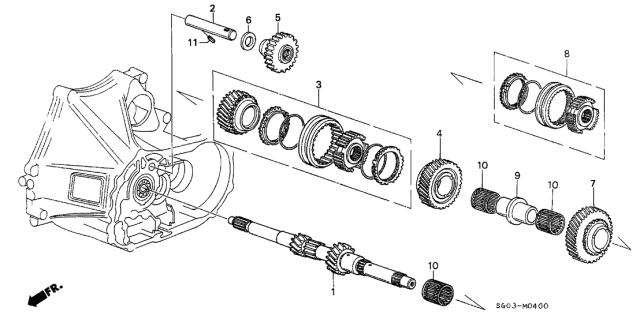 1989 Acura Legend MT Mainshaft Diagram