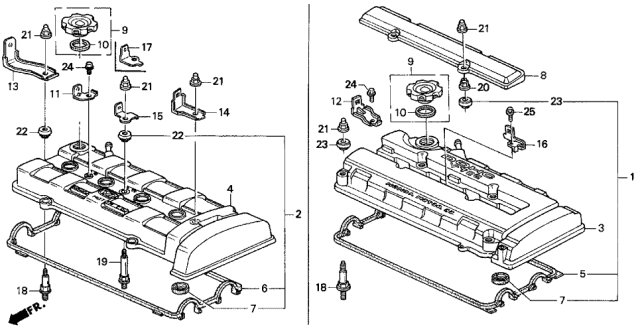 1996 Acura Integra Cylinder Head Cover Diagram