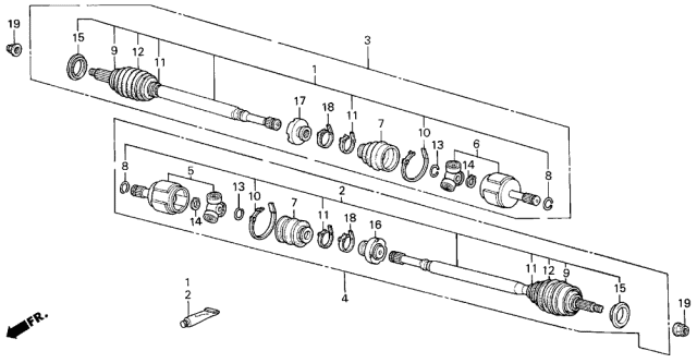 1986 Acura Integra Driveshaft Diagram
