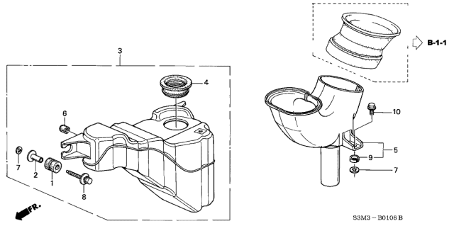 2001 Acura CL Resonator Chamber Diagram
