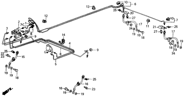 1986 Acura Integra Brake Lines Diagram