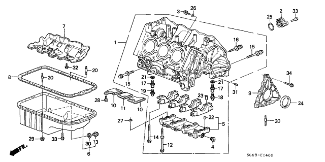 1989 Acura Legend Cylinder Block Diagram