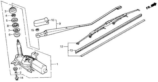 1986 Acura Integra Rear Wiper Diagram