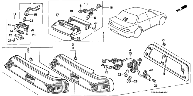 1993 Acura Integra Taillight Diagram