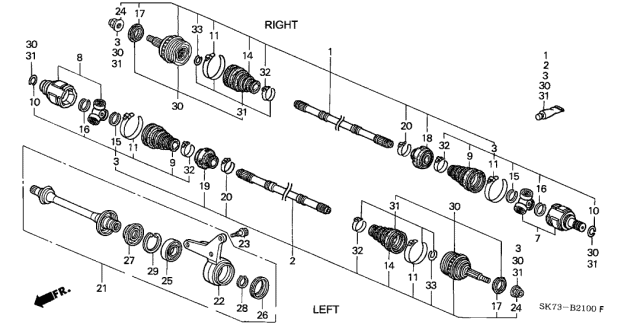1992 Acura Integra Driveshaft Diagram