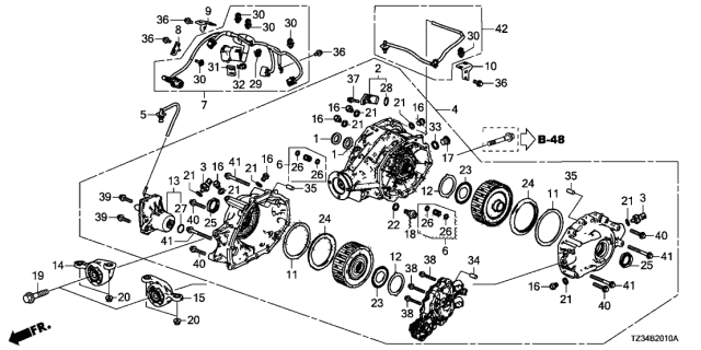 2018 Acura TLX Rear Differential - Mount Diagram