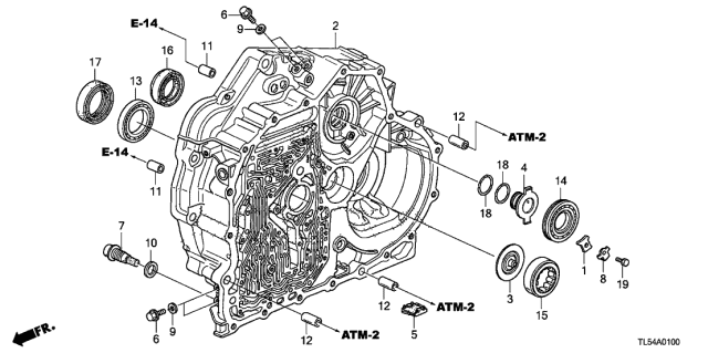 2011 Acura TSX AT Torque Converter Case Diagram