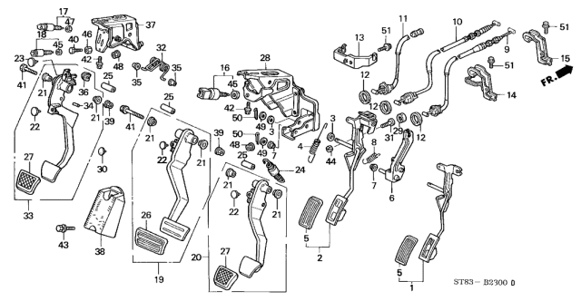 2001 Acura Integra Pedal Diagram