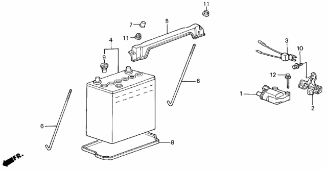 1986 Acura Integra Ignition Coil - Battery Diagram