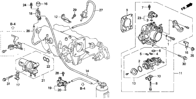 1996 Acura Integra Throttle Body Diagram