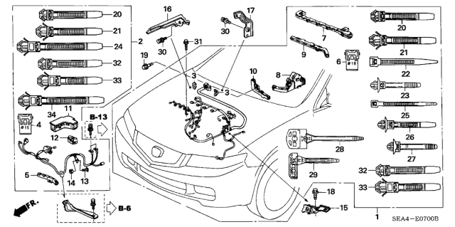 32110-RBB-A01 - Genuine Acura Wire Harness, Engine | Tsx Engine Diagram |  | Acura Parts