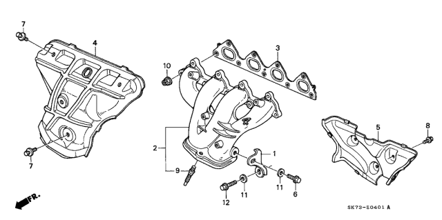 1992 Acura Integra Exhaust Manifold Diagram