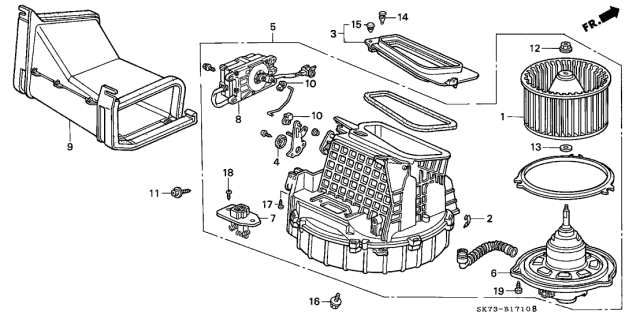 1992 Acura Integra Heater Blower Diagram