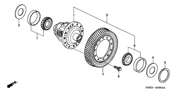 2002 Acura CL Differential Diagram