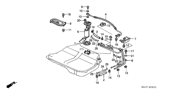 1989 Acura Legend Fuel Pump Diagram