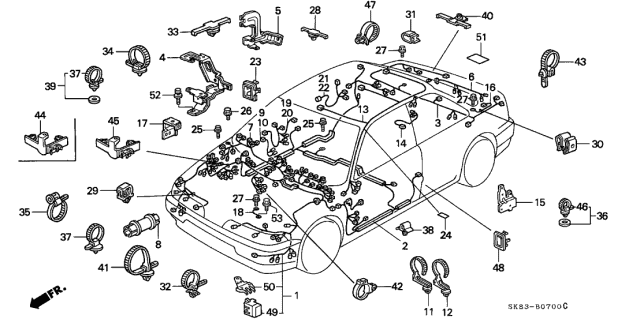 1993 Acura Integra Wire Harness Diagram