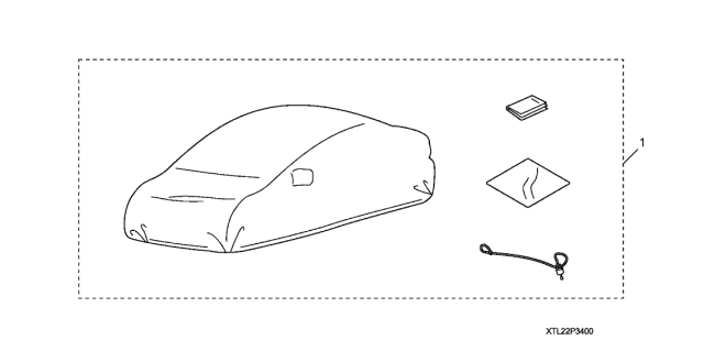 2011 Acura TSX Car Cover Diagram