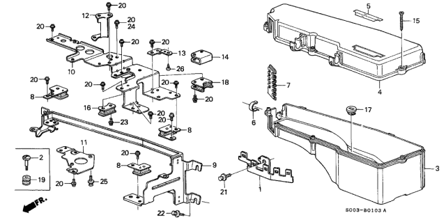 1989 Acura Legend Control Box Cover Diagram