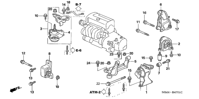 50840-S6M-981 Genuine Acura Stopper, Front EngineAcura Parts