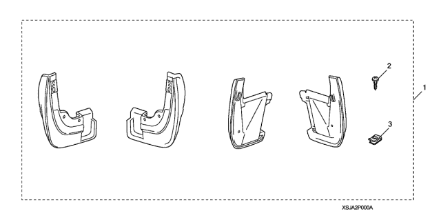 2009 Acura RL Splash Guard Diagram