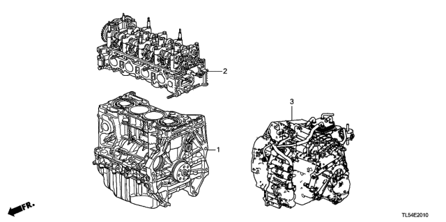 2014 Acura TSX Engine Assy. - Transmission Assy. Diagram