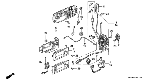1991 Acura Integra Front Door Locks Diagram