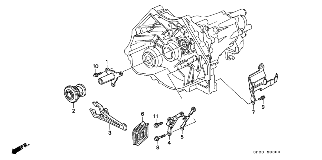 Acura 22820-PY5-000 Clutch Release Arm