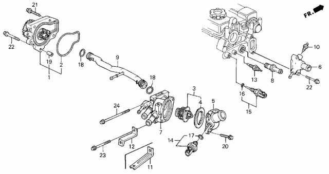 1996 Acura Integra Water Pump - Sensor Diagram
