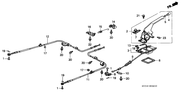 1989 Acura Legend Parking Brake Diagram