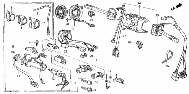 1990 Acura Legend Combination Switch Diagram