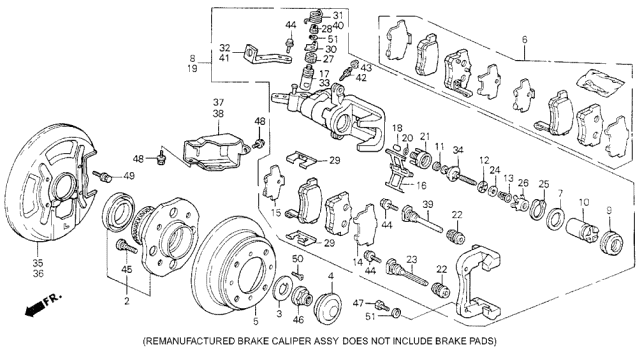 1994 Acura Vigor Rear Brake Diagram