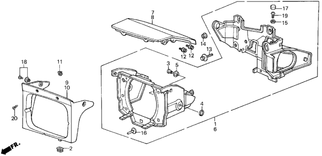 1986 Acura Integra Retractable Headlight Diagram